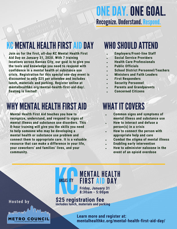 2020 Mental Health First Aid Day flyer 2